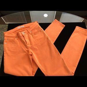 7 For All Mankind Skinny Orange 🍊 Jeans